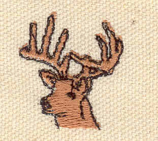 Embroidery Design: Deer head A1.00w X 1.10h