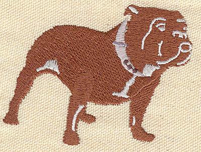 Embroidery Design: Dog pitbull 2.90w X 2.50h