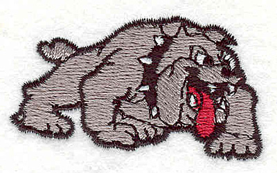 "Embroidery Design: Bulldog A1.20"" x 2.20"""