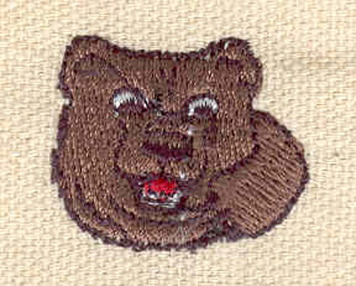 Embroidery Design: Brown bear head 1.00w X 0.90h