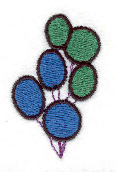 "Embroidery Design: Balloons A 1.36""w X 2.18""h"