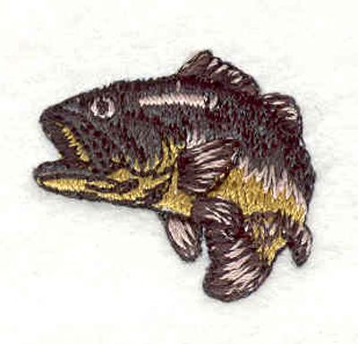 """Embroidery Design: Bass A 1.20""""w X 1.00"""" h"""
