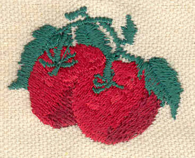 Embroidery Design: Apples 1.70w X 1.30h