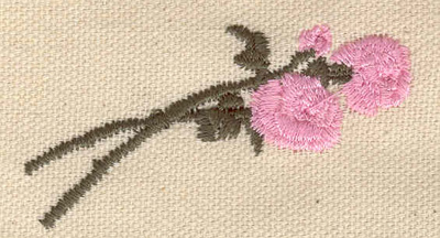 Embroidery Design: Long stemmed roses 2.50w X 1.30h