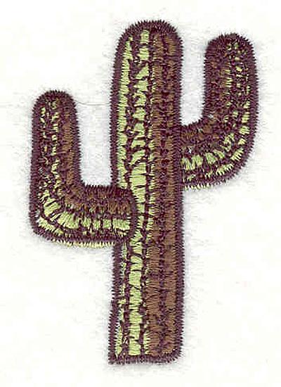 "Embroidery Design: Cactus A2.20H x 1.50""W"