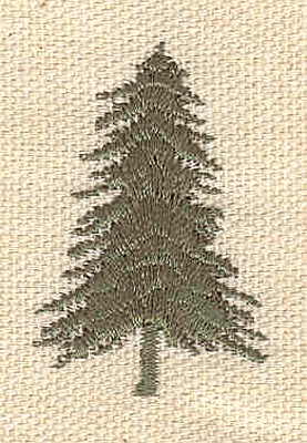 Embroidery Design: Evergreen A 1.00w X 1.60h