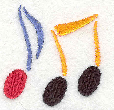 "Embroidery Design: Music notes 2.09"" X 2.02"""