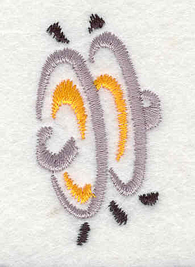 "Embroidery Design: Cymbols 2.04"" X 1.10"""