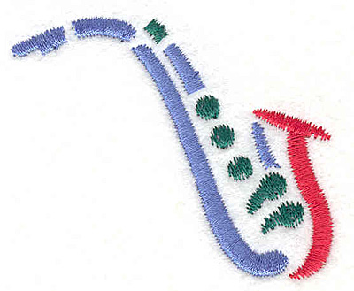 "Embroidery Design: Saxophone 1 2.15"" X 2.47"""