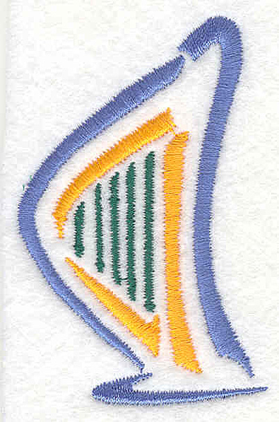 "Embroidery Design: Harp 2 2.78"" X 1.77"""
