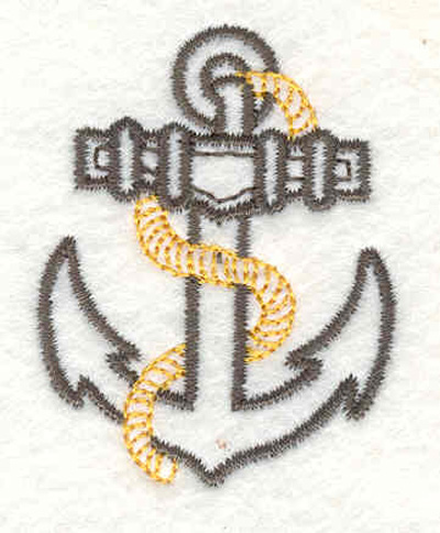 "Embroidery Design: Anchor with rope B 1.50""w X 1.90""h"