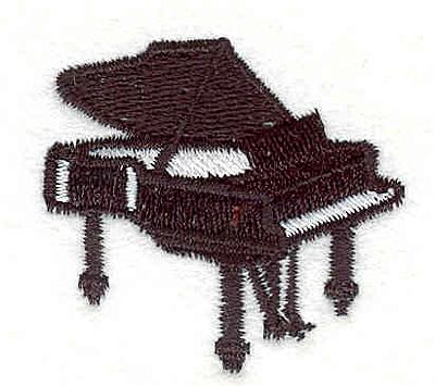 """Embroidery Design: Piano 1.65"""" X 1.65"""""""