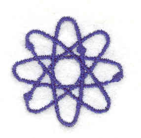 Embroidery Design: Atom 1.20w X 1.20h