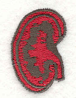 Embroidery Design: Kidney 1.40w X 1.00h
