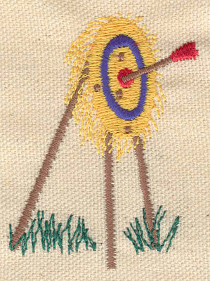 Embroidery Design: Archery target 1.93w X 2.55h