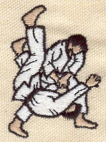 Embroidery Design: Jiu-Jitsu 1.53w X 2.19h