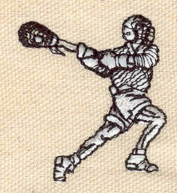 Embroidery Design: Lacrosse Player 1.50w X 1.68h