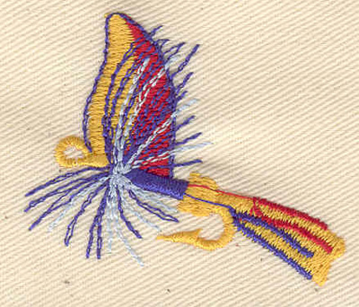 Embroidery Design: Fishing Lure 2.00w X 1.63h