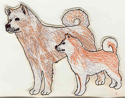 Embroidery Design: Huskies standing 4.50w X 4.25h