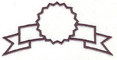 """Embroidery Design: Banner 22.00"""" x 4.00"""""""