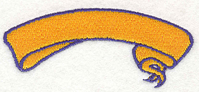 """Embroidery Design: Banner 31.50"""" x 3.50"""""""