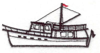 "Embroidery Design: Sailboat C 3.00""w X 1.45""h"