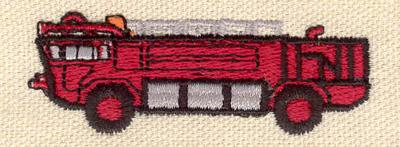 Embroidery Design: Fire truck 2.50w X 0.80h