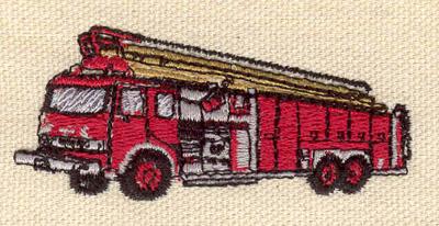Embroidery Design: Fire truck 2.60w X 1.15h