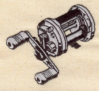 Embroidery Design: Fishing reel 2.60w X 2.40h