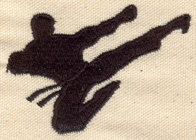Embroidery Design: Martial arts figure 3.00w X 2.10h