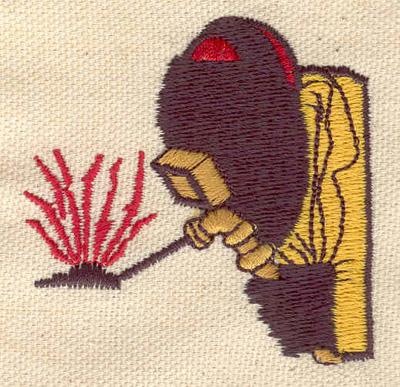 Embroidery Design: Welder 2.31w X 2.24h