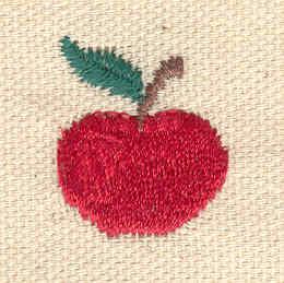 Embroidery Design: Apple mini 0.75w X 0.95h