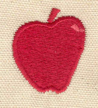 Embroidery Design: Apple 1.25w X 1.55h