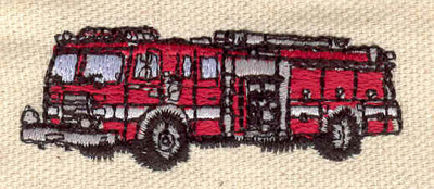 Embroidery Design: Fire truck 2.25w X 0.85h