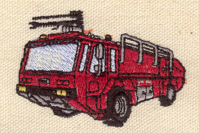 Embroidery Design: Fire truck 2.43w X 1.69h