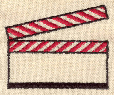 Embroidery Design: Director's clapboard 3.18w X 2.61h
