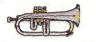 "Embroidery Design: Trumpet 0.80"" X 1.65"""