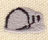 Embroidery Design: Miner's helmet 0.74w X 0.45h