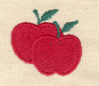 Embroidery Design: Apple duo 1.67w X 1.52h