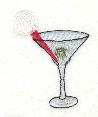 "Embroidery Design: Golfer's martini 1.80""w X 2.35""h"