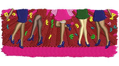Embroidery Design: Bachelorette Final Fling Lg 4.51w X 1.86h
