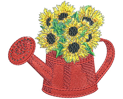 Embroidery Design: Watering Can Lg 3.51w X 3.18h