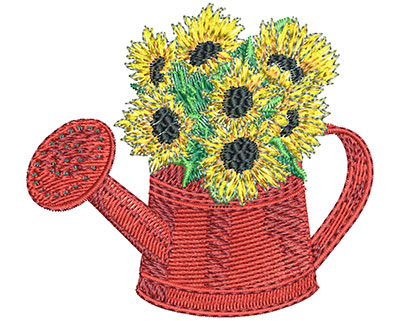 Embroidery Design: Watering Can Med 3.00w X 2.72h