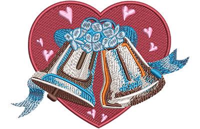 Embroidery Design: Wedding Bells Lg 4.57w X 3.29h