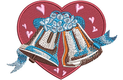 Embroidery Design: Wedding Bells Med 4.05w X 2.93h