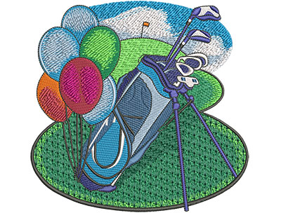Embroidery Design: Retirement Golf Lg 5.99w X 5.81h