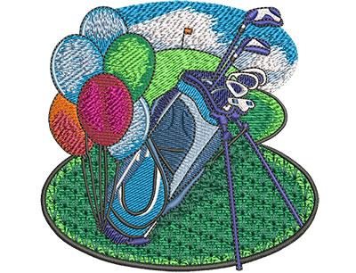 Embroidery Design: Retirement Golf Sm 3.99w X 3.86h