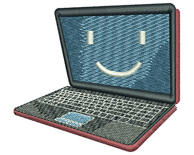 Embroidery Design: Laptop Med 3.03w X 2.73h