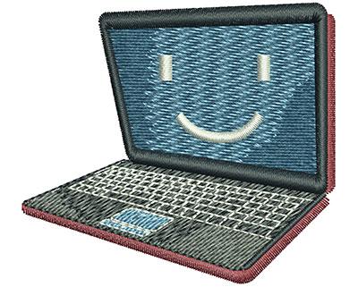 Embroidery Design: Laptop Sm 2.53w X 2.28h