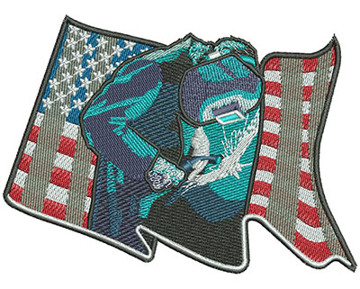 Embroidery Design: American Welder Med 4.81w X 3.53h